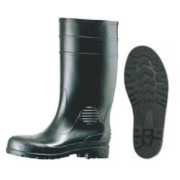 安全長靴 ワークエース W1000 黒 25cm【厨房長靴】【業務用長靴】【安全長靴】