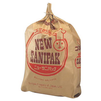 紙製 サニパック(特殊防水加工)小 A-34(100枚入)【ゴミ袋】【ごみ袋】【防水ゴミ袋】