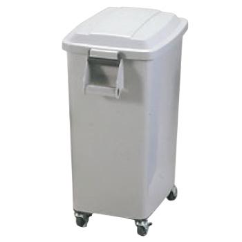 厨房ペール キャスター付 CK-45 グレー(GR)【ゴミ箱】【ダストカート】【キャスター付きゴミ箱】