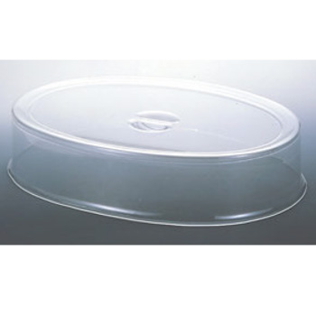 UK スタッキング 小判皿カバー 32インチ用 アクリル【トレーカバー】【丸皿用カバー】