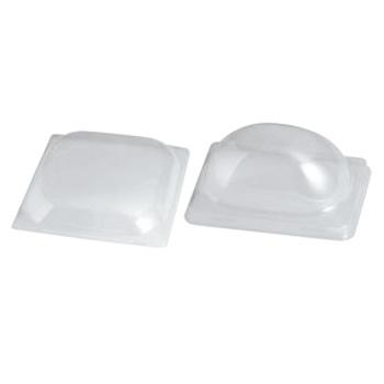 ソリア フルイド用蓋 クリア PL20209(50入)300用【デザート皿】【デザートプレート】