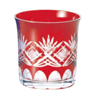 江戸切子 71カット・オールド 赤 00-533-9【グラス】【カップ】【タンブラー】
