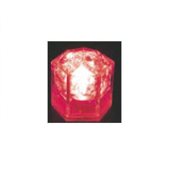 光る氷 ライトキューブ・クリスタル(24入)レッド【保冷材】