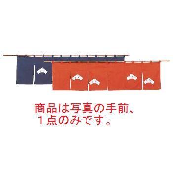 文 のれん N107-10 茶 1700×450【飲食店のれん】【暖簾】