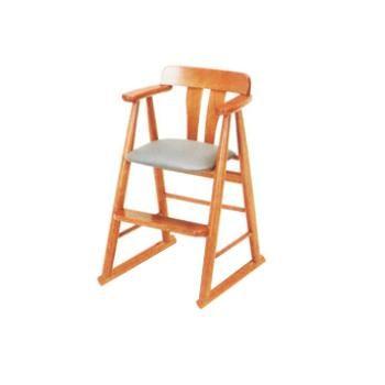 天然木ハイチェア- 9-27-8K【子供イス】【お子様用椅子】【木製椅子】【飲食店備品】