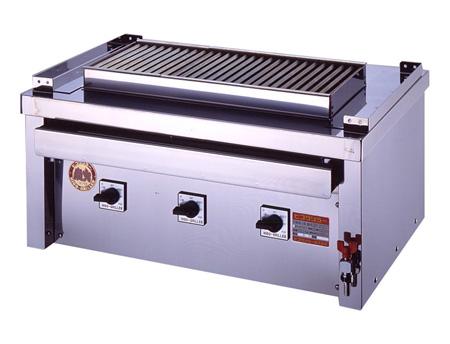 ヒゴグリラー ステーキ用グリラータイプ 3P-218CS【代引き不可】【業務用】【焼台】【網焼きステーキ】【鉄板焼】【グリドル】【下火】【ハンバーグ】【バーベキュー】【サーモンステーキ】
