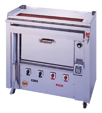 ヒゴグリラー オーブン付タイプ GOX-135【代引き不可】【業務用】【焼台】【串焼き】【やきとり】【電気グリラー】【下火】【オーブン料理】【ピザ グラタン】
