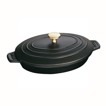 ストウブ オーバルプレート 23×17cm 黒 40509-582 1.0L