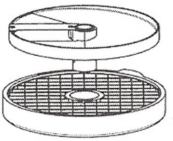 ロボクープ 野菜スライサー CL-52D・CL-50E用刃物円盤 ダイシンググリッド盤 25mm×25mm (2枚セット)【代引き不可】
