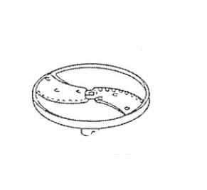 ロボクープ 野菜スライサー CL-52D・CL-50E用刃物円盤 リップルカット盤(波状スライス)2枚刃 2mm