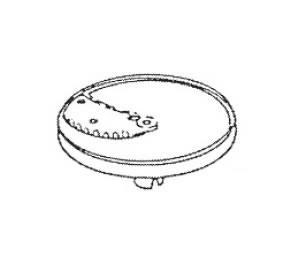 ロボクープ 野菜スライサー CL-52D・CL-50E用刃物円盤 リップルカット盤(波状スライス)1枚刃 5mm