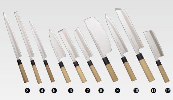 堺菊守 和包丁 特製 鎌型薄刃(関西型) 240mm