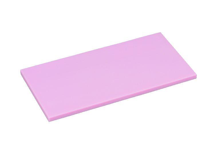 K型オールカラー プラスチックまな板ピンクK16B 厚30mm【代引き不可】