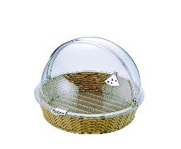 ポリカハーフ トップカバー(丸)付 ベーカリー バスケット BB-413-IV