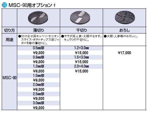 MSC-90用 オプション 薄切り 2.0mm厚
