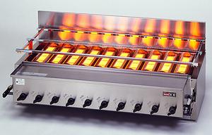 ガス赤外線 グリラー (下火式) 新荒磯10号 RGA-410C((ガス種:プロパン) LP)【代引き不可】