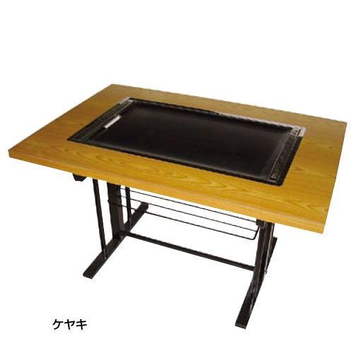 お好み焼き テーブル (スチール脚) IM-180P (ガス種:都市ガス) 13A【代引き不可】