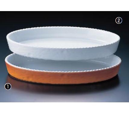 小判グラタン皿 ホワイト PB-200-48