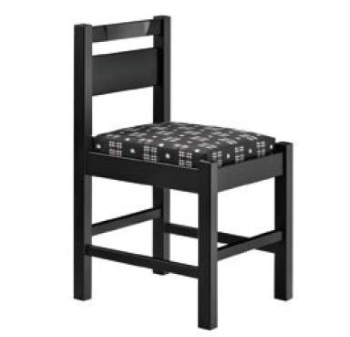 阿山B椅子 ブラック 1355-1865 (赤レザー)【代引き不可】