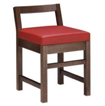 隼人D椅子 ダークブラウン 1184-1690 (黒レザー)【代引き不可】