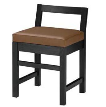 隼人B椅子 ブラック 1384-1690 (黒レザー)【代引き不可】