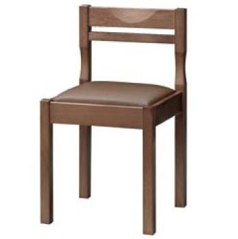 関羽D椅子 ダークブラウン 1206-1901 (赤レザー)【代引き不可】