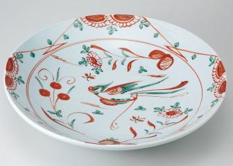 錦花鳥 尺二盛皿