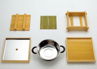 椹・お座敷セイロ (8寸)箱型スリ蓋