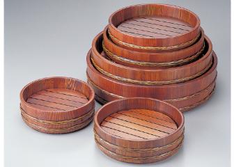 強化バンド摺漆 桶 目皿付尺1