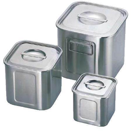 エコクリーンUK18-8深型角キッチンポット 36cm 【代引き不可】【ステンレス製キッチンポット】【18-8ステンレス】【業務用保存容器】【エコクリーン】【UK】【業務用】