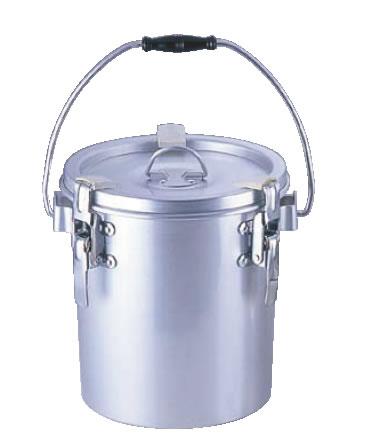 シルバーアルマイト丸型二重クリップ付食缶 238 (8l)【給食】【仕出し】【業務用】