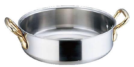 SAスーパーデンジ 外輪鍋(蓋無) 42cm【代引き不可】【ステンレス外輪鍋】【電磁調理器対応】【IH対応】【業務用鍋】【SUPERDENJI】【業務用】