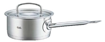 フィスラー 18-10浅型ソースパン 84-153(蓋付) 16cm【ステンレス片手鍋】【電磁調理器対応】【IH対応】【業務用鍋】【ソースパン】【Fissler】【業務用】
