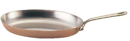 モービルカパーイノックス片手オーバルパン 6525.35 35cm【代引き不可】【銅フライパン】【mauviel】【業務用】