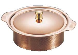 SW 銅丸型キャセロール 18cm【銅鍋】【両手鍋】【業務用】