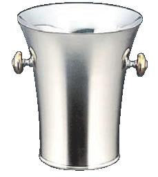 トリオ18-8二重パーティークーラー B型(目皿・トング付)【シャンパンクーラー】【ボトルクーラー】【ワインクーラー】【業務用】