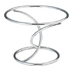 SW 陶器丸皿スタンド クロスB 3870-2232【装飾台】【バイキング ビュッフェ】【バンケットウェア】【皿】【業務用】
