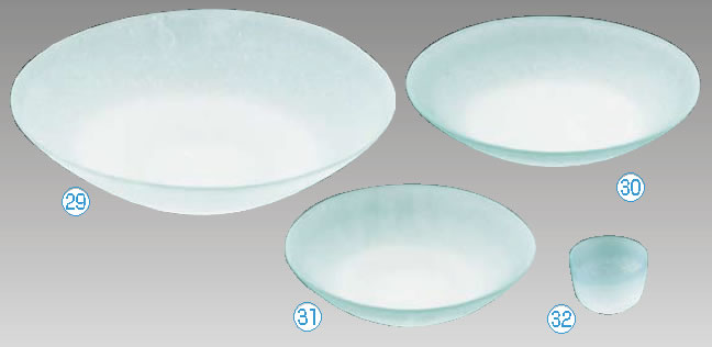 硝子和食器 若草 40センチ 盛皿【FIRST GLASS】【小皿】【取り皿】【取皿】【小分け皿】【業務用】