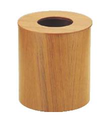 木製ルーム用ゴミ入れ 蓋付(チーク) 952 大【ダストボックス】【くず入れ】【屑入れ】【クズ入れ】【ゴミ箱】【業務用】