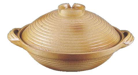 アルミ 電磁用手造り土鍋 楽鍋(新幸楽) 24cm【IH対応】【業務用】