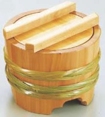 サワラ 釜揚桶 (大)【料理演出用品】【うどん桶】【そば桶】【素麺桶】【業務用】