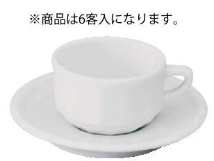 アピルコ フローラ モカカップ&ソーサー(6客入) PTFL M FL ホワイト【APILCO】【業務用】