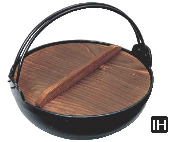 アルミ電磁用いろり鍋 27cm 【鍋料理】【IH 電磁調理器対応】【田舎鍋】【深型鍋】【いろり鍋】【やまが鍋】【ふる里鍋】【故郷鍋】【業務用】