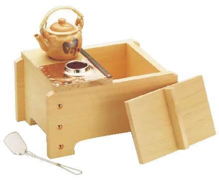 桧角型湯ドーフセット(炭用) UH-1021 1人用 【代引き不可】【鍋料理】【湯豆腐セット】【湯どうふセット】【業務用】