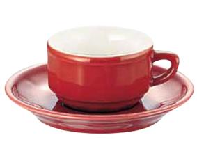 アピルコ フローラ モカカップ&ソーサー(6客入) PTFL M FL レッド【APILCO】【コーヒーカップ】【コーヒーコップ】【ティーカップ】【ティーコップ】【紅茶カップ】【業務用】