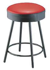 丸イス K-350(赤/黒) 座高470mm【いす】【イス】【ダイニングチェア】【レストランイス】【飲食店椅子】【業務用】