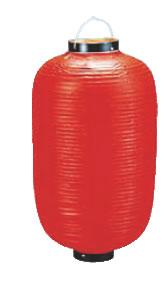 ビニール提灯長型 (25号) 赤ベタ b425【代引き不可】【ちょうちん】【提灯】【提燈】【灯燈】【吊灯】【飲食店吊灯】【業務用】