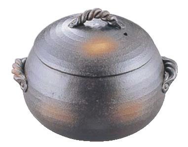 栗型ごはん炊き 黒 44-10-SL 大(7合炊)【ライスクッカー】【ライス・ボイラー】【業務用】