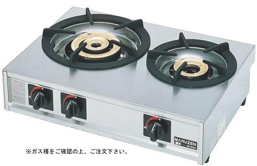 ガステーブルコンロ親子二口コンロ M-212C (ガス種:プロパン) LPガス【代引き不可】【焜炉】【熱炉】【業務用】