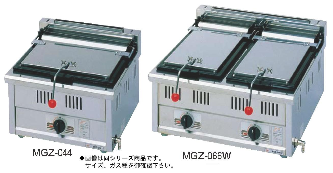 ガス 餃子焼器 MGZ-066W (ガス種:プロパン) LPガス【代引き不可】【鉄板】【業務用】